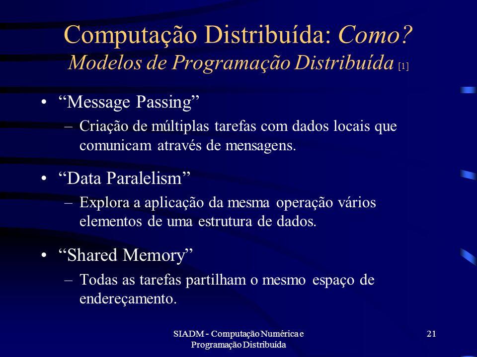 Computação Distribuída: Como Modelos de Programação Distribuída [1]